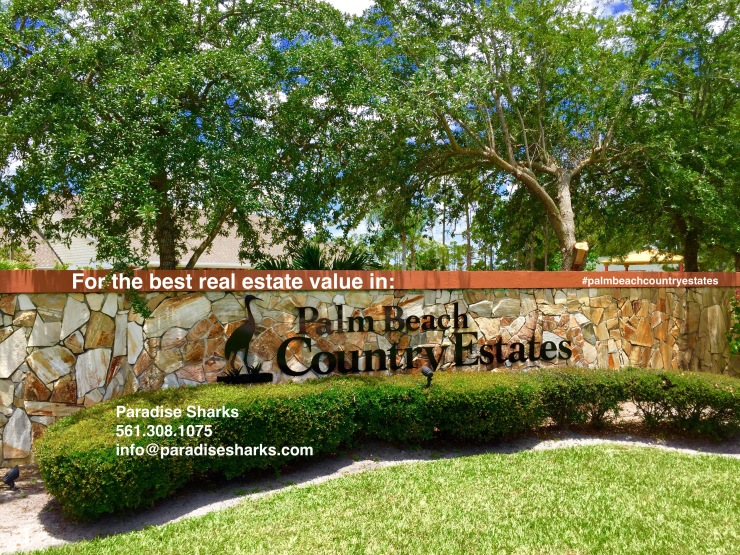 Palm Beach Country Estates Sign